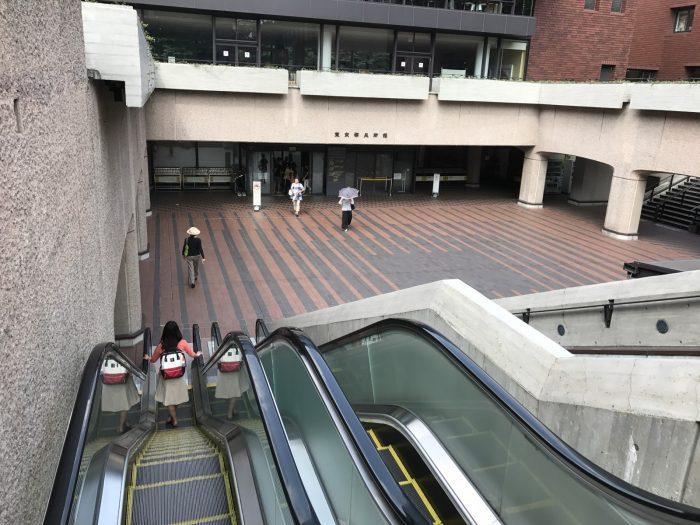 東京都美術館のエスカレーター