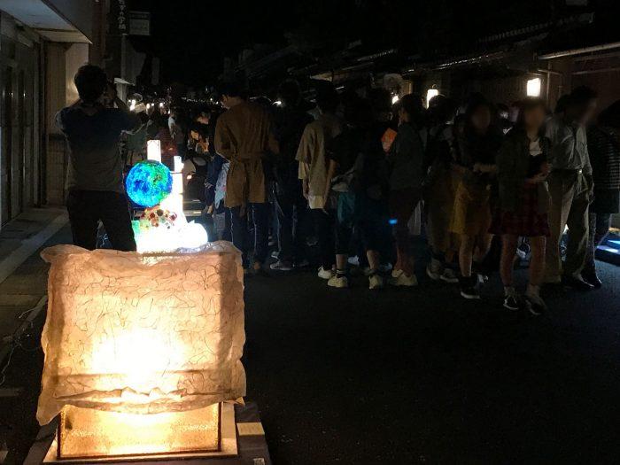 夜のあかりオブジェ|美濃和紙あかりアート展