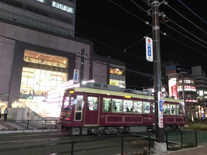 夜の路面電車 in 大塚