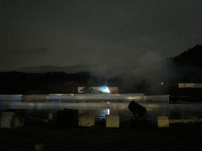 噴水イルミネーションの会場
