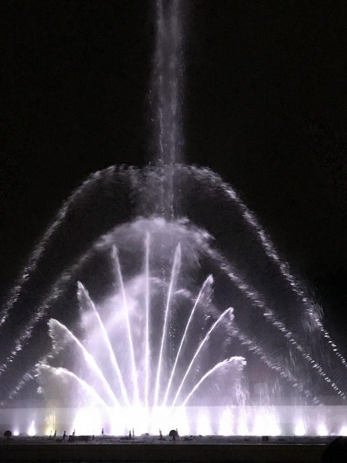 時之栖の噴水イルミネーション