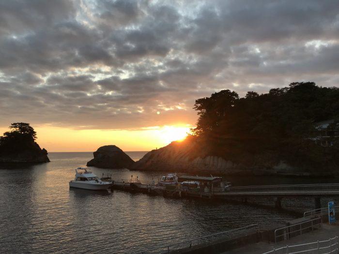 堂ヶ島マリンの夕暮れ