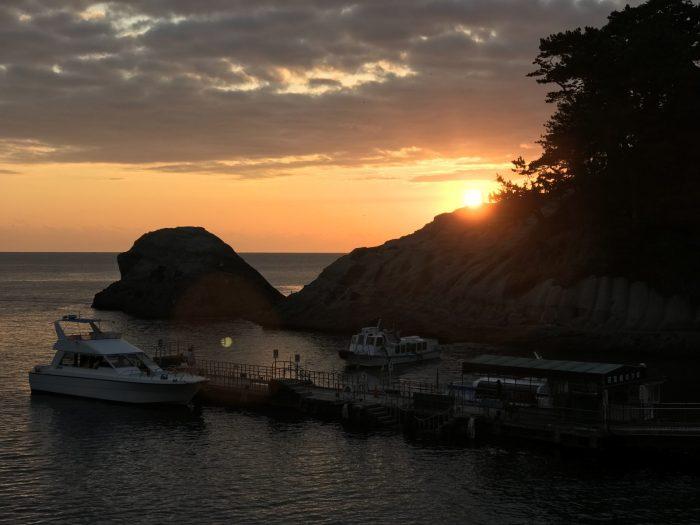 堂ヶ島マリンの夕日