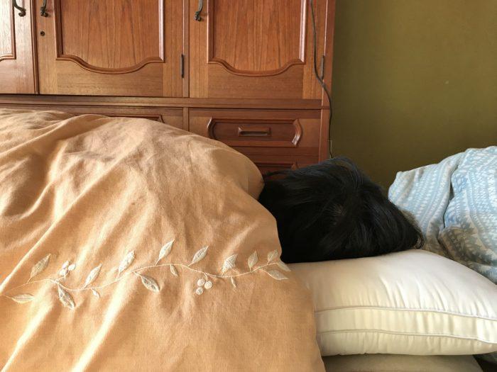 ニトリのホテルスタイル枕で寝る