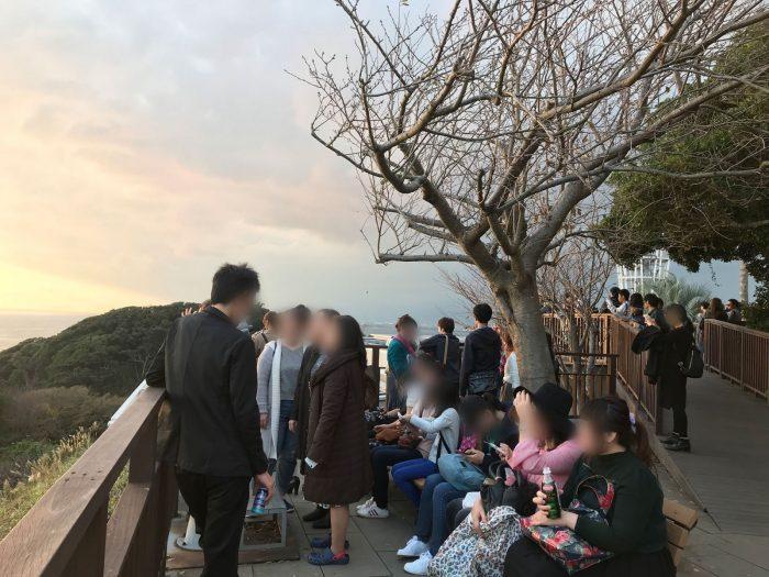 カップルが多い|江の島