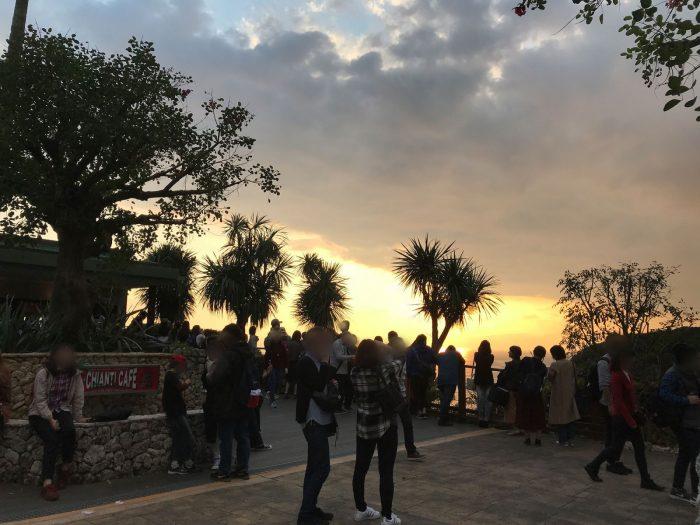江の島の夕日