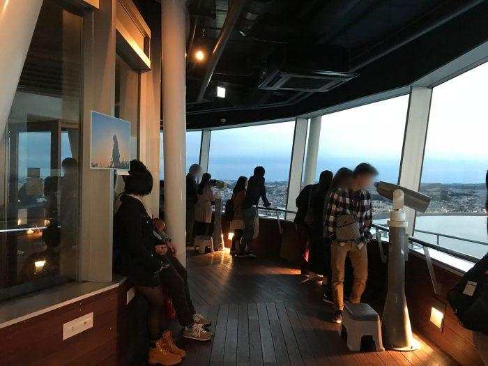 江の島展望灯台の展望室