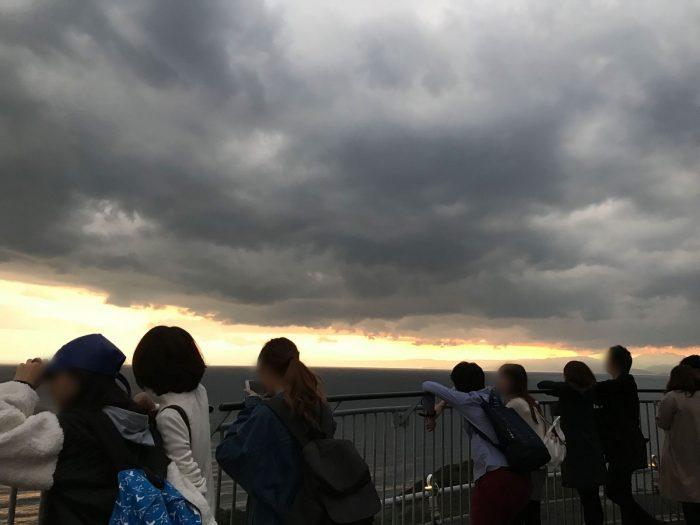 江の島展望灯台の屋上