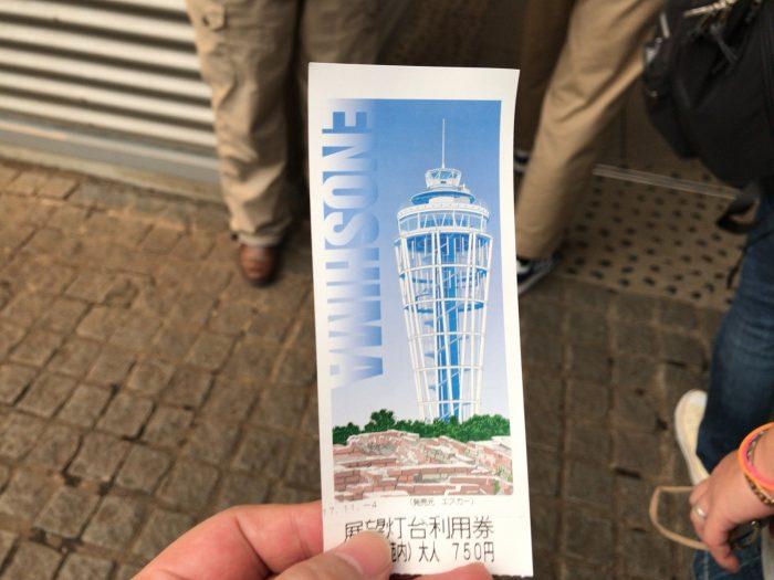 江の島エスカーのチケット(展望灯台セット券)