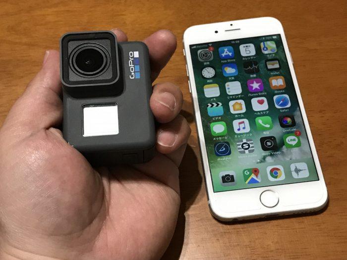 GoProは手のひらサイズ