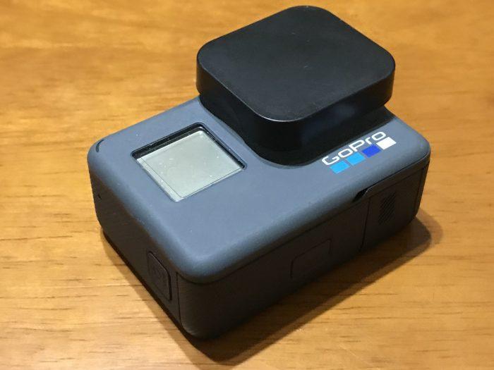 GoProのレンズ保護カバーキャップ
