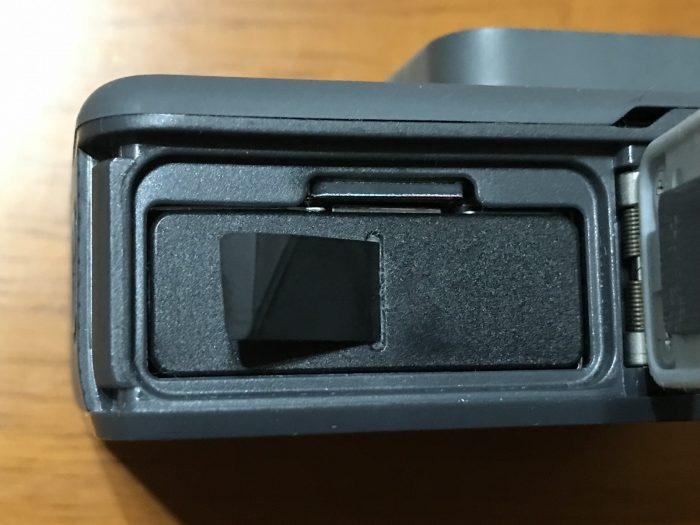 microSDカードと充電式バッテリーをGoPro本体に装着完了