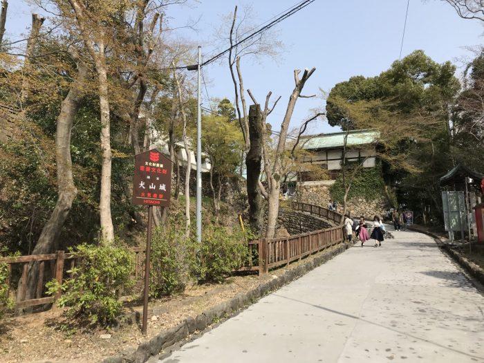 勾配のある坂|犬山城