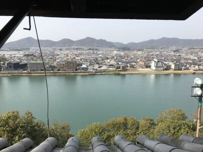 木曽川|犬山城天守からの景色