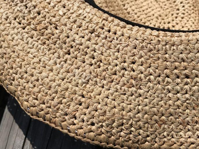 素材は植物繊維(ラフィア椰子)100%|THE NORTH FACEの麦わら帽子