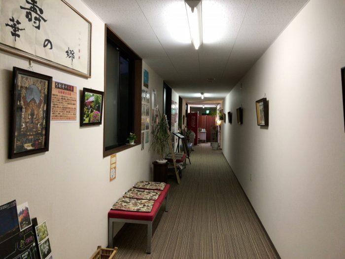 展望風呂への渡り廊下|湯華の郷