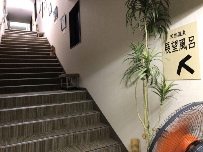 渡り廊下の階段|湯華の郷
