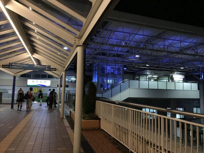 夜の新豊田駅