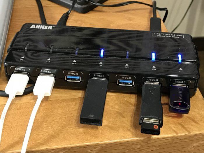Anker USB3.0 ウルトラスリム 4ポートハブ