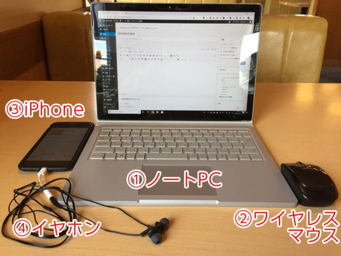 外出先でノートPC作業する時の必須アイテム